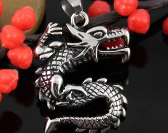 Dragon Stainless Steel Pendant-DR004