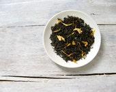 Vanilla Velvet Black Tea • 3.5 oz. Kraft Bag • Creamy Vanilla Loose Leaf Blend w/ Jasmine & Sunflower Petals