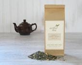 Linda's Lemon Ginger Green Tea • 7 oz. Kraft Bag • Organic Lemongrass, Ginger Root & Lemon Myrtle Loose Leaf Blend