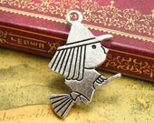 10 pcs Antique Silver Witch Charms Witch on broomstick Charms Double Sided 29x24mm CH1384