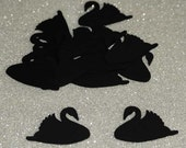 "Black Swan, Table Confetti, Die Cut, Party, Birthday 1-1/2"" x 2-1/4"" inches"