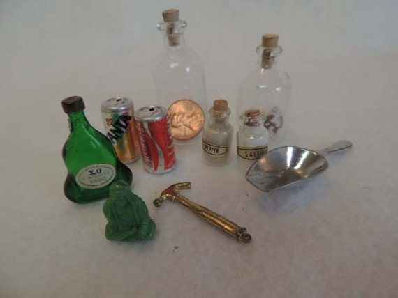 VINTAGE MINIATURES COLLECTION... 10 Pieces.. Decorative, Crafts, Assemblages Etc.