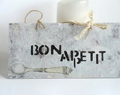 Bon Appetit Kitchen Wall Hanging Cozy Rustic Home Decor
