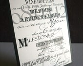 Wine Bottle Guest Book Sign Wedding Anniversary Birthday Special Life Event