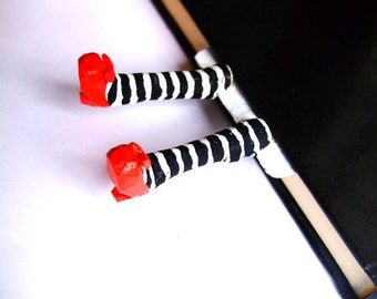 Wicked witch bookmark. Wicked witch of the East Bookmark. Red Shoes Bookmark. Inspired by the Wizard of OZ.Gift for her, him, kids, children