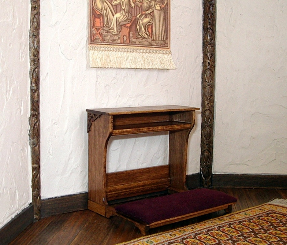 Reserved For Dpjmn Prie Dieu Prayer Bench Tudor Dollhouse