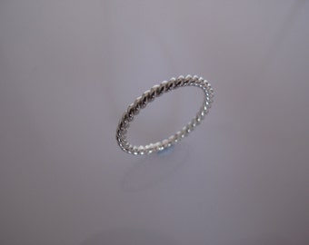 Twist Stacking Stackable Ring In Sterling Silver