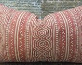 Designer Pillow Cover - 12 x 16, 12 x 18, 12 x 20 - Empoli Venezia Collection Red