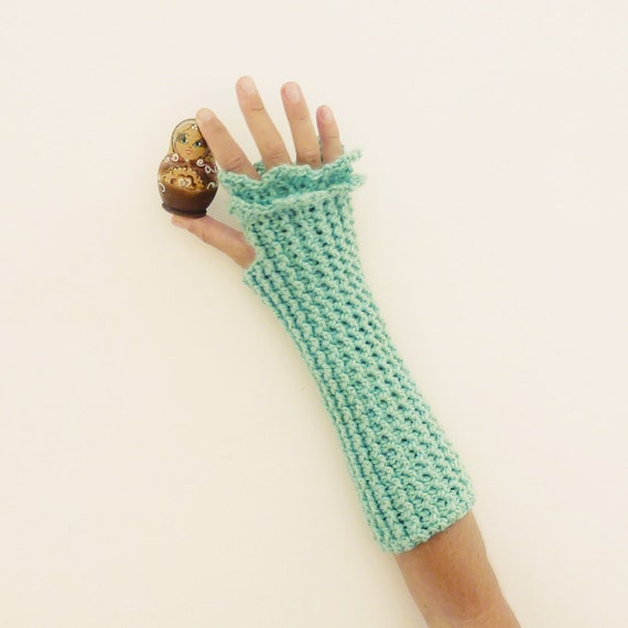 Crochet Mitten Patterns For Beginners : Fingerless Crochet Pattern Mittens Grace PDF beginners by ...