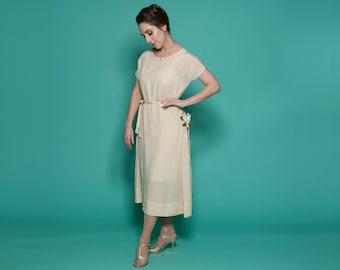 Vintage 1920s Silk Wedding Dress - Floral Gatsby - Bridal Fashions