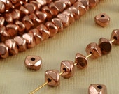 For Steph ONLY............. Metal Beads Copper plated Polished Nugget Chips 6mm Loose Heishi Disc Spacer from India BOHO Natural Beads