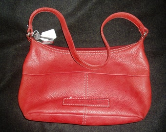 Genuine Fossil Red Leather Purse