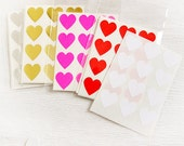 60 Heart Label Stickers- MULTI-PACK