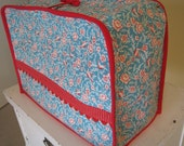 Red and Teal Sewing Machine Cover