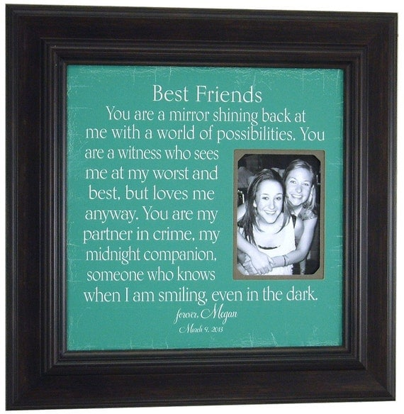 Wedding Gifts For Best Friend Female : Best Friends Gift, Friend Wedding Frame, Maid of Honor, Bridesmaid ...