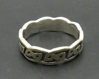 R000689 Sterling Silver Ring Solid 925 Band