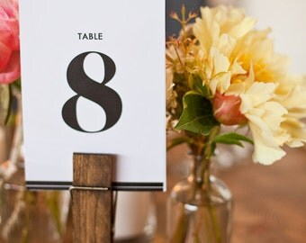Modern Typography Table Numbers 1-10