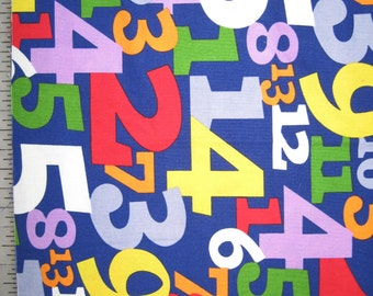 "Alexander Henry numbers on blue 12"" X 42"""