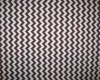 Riley Blake Designs brown white chevron fabric 1/2 yard