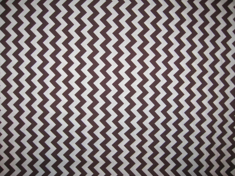 Riley Blake Designs brown white chevron fabric 1 yard from ...