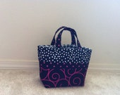 Small Tote in Pink, Black and White, Perfect for Scriptures