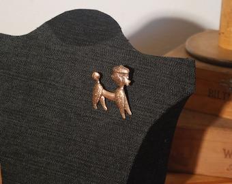 Poodle Pin - Rose Gold Tone - Copper Brooch - Dog Lover - Buy Me Dog-gone-it