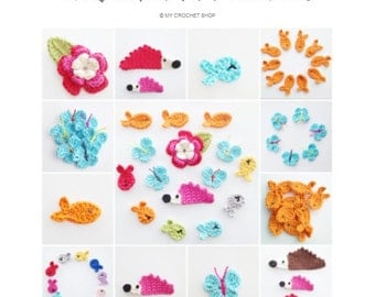 Crochet Appliques Ebook PDF - Instant Download