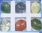35x45mm Massage Stone Wholesale Lot 6 Pieces Bead Semiprecious Gemstone Bead 6390 15''L Jewelry Supply Wholesale Beads
