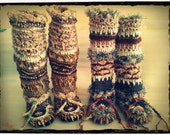 Crochet Boots Pattern----5 Style in One----FABULOUS FREEFORM BOOTS---legwarmers/ankle boots/slippers/boot cuffs--Instant Download