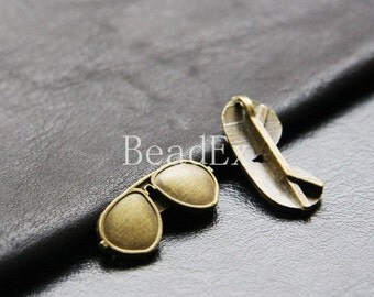 8pcs / Sunglasses / Glasses / Antique Brass / Charms / 30x12mm (XB625//A116)