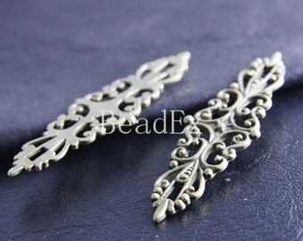 6pcs /  Filigree Link  / Antique Brass / Base Metal / 20x67mm (Y20556//A365)