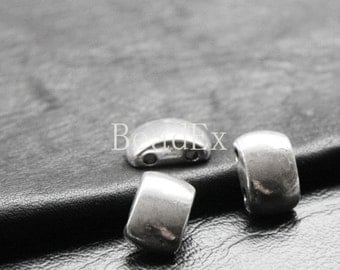 12pcs / Spacer / 2 Strands / Oxidized Silver / Base Metal / 14x9mm (YA8659//C45)