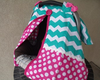 Car seat Cover Carseat Cover Chevron Girl
