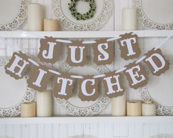 Just Hitched Wedding Banner