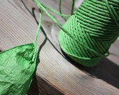 By Yards Elegant Bright Green Twisted Paper Cord 2mm diameter - Eco Materials - for weddings, crafting, gift wrapping, packaging