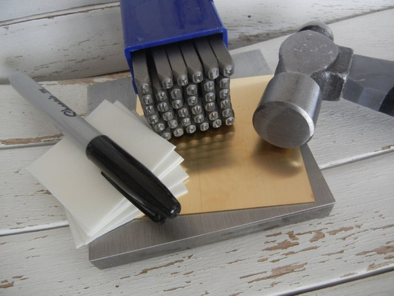 Metal Stamping Kit Metal Jewelry Hand Stamping by supplyzone