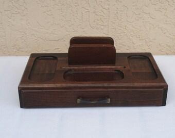 Wood Desk Top Organizer.
