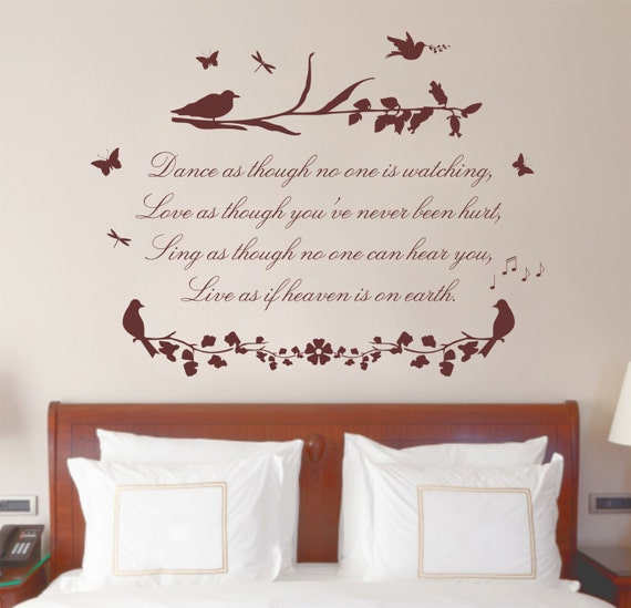Love Quotes Vinyl Wall Art : Dance sing love quote vinyl wall art sticker decal by purrfic