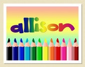 So Cute - Personalized Note Cards - A Rainbow Of Colors (10 Folded)