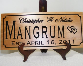 Carved Wood Sign - Wood Sign - Custom Wood Sign - Custom Sign - Personalized Sign - Wedding Gift