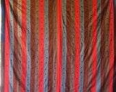 STUNNING Vintage STRIP BLOCK Quilt Rich & Bold- 2 Sided