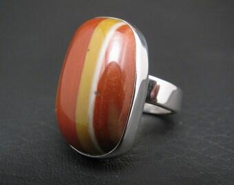 Red Rhyolite Ring