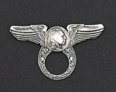 Deluxe Motorcycle Style Sunglass Holder Pin - Indian Head Nickel