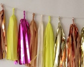 Neon Explosion Hot Pink 29 Sparkle & Shine Tissue Tassel Garland