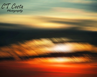 Abstract Sunset Photography, art for walls, digital composition, 5x7 inch print