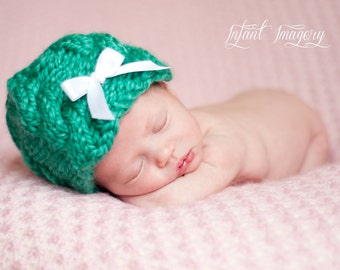 Cabled Beanie Knit Pattern - Newborn, Baby, Toddler, Child, Adult Sizes - Instant Digital Download