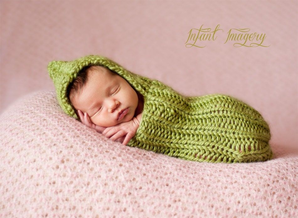 Knitting Stich Patterns : Knitting Pattern - Baby Cocoon Pattern - Newborn Photo Prop Pattern - Baby Sl...