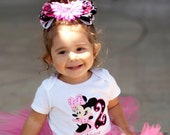 Minnie Mouse Embroidered Birthday Shirt.  Any Number and Color