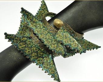"The ""Sea Dragon"" Wrist Wrap Beading Kit (inspired www.ContemporaryGeometricBeadwork.com)"