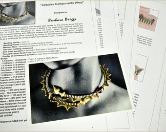 "Tutorial  for the ""Creative Components Wrap"" inspired www.ContemporaryGeometricBeadwork.com)"